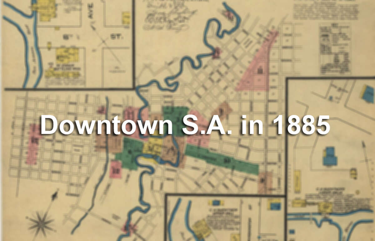 The 1885 Sanborn Fire Insurance map of downtown San Antonio shows an incredibly detailed look at each block of the city. See what downtown San Antonio looked like then and now.
