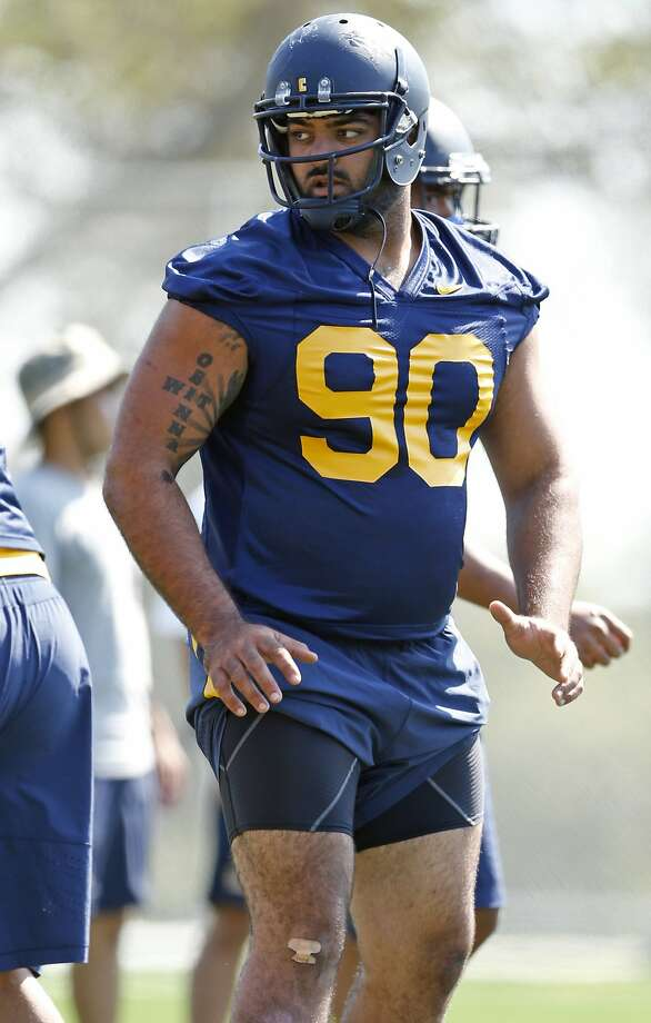 California's Mustafa Jalil (90) during football practice in Berkeley, Calif., on Monday, Aug. 17, 2015. Photo: Scott Strazzante, The Chronicle