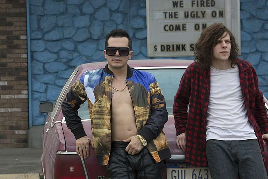 """John Leguizamo plays a drug dealer and Jesse Eisenberg is a secret CIA agent who consumes mass quantities of marijuana in """"American Ultra."""" An altered state is almost necessary to appreciate the film, which appears to have been written while high. Photo: Lionsgate, McClatchy-Tribune News Service"""