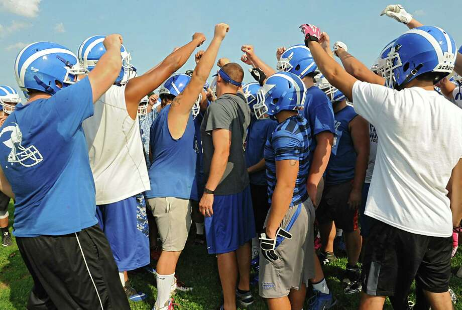 The Shaker football team holds their first practice of the season at Shaker High School on Monday, Aug. 17, 2015 in  Latham, N.Y. (Lori Van Buren / Times Union) Photo: Lori Van Buren / 00033030A