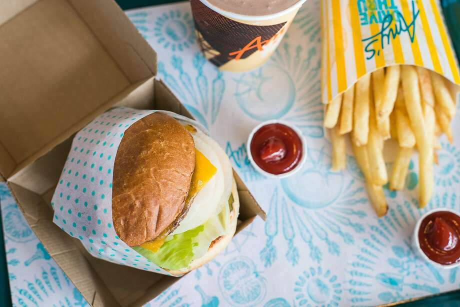 The Amy burger, fries and nondairy shake at Amy's Drive Thru in Rohnert Park. Photo: Jen Fedrizzi, Special To The Chronicle