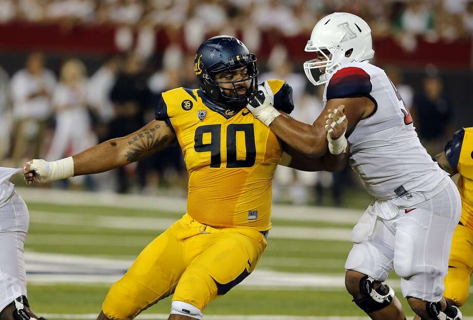 Cal defensive tackle Mustafa Jalil works during the second half against Arizona in Tucson in September, a 49-45 Bears loss. Photo: Rick Scuteri, Associated Press