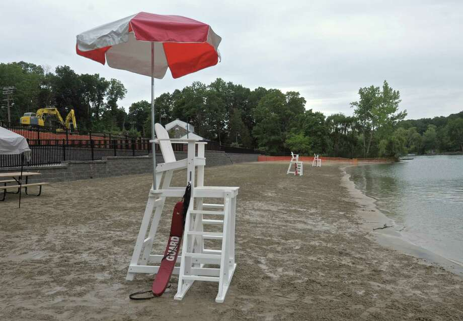 File photo of the Brookfield Town Park Beach, which is closed until further notice. Photo: H John Voorhees III / Hearst Connecticut Media / The News-Times