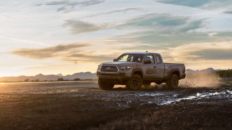 The new 2016 Toyota Tacoma comes equipped with a standard GoPro mount, and the more tricked-out Tacoma SR5, TRD Sport and TRD Off-Road are all geared for rugged adventures. Photo: Toyota