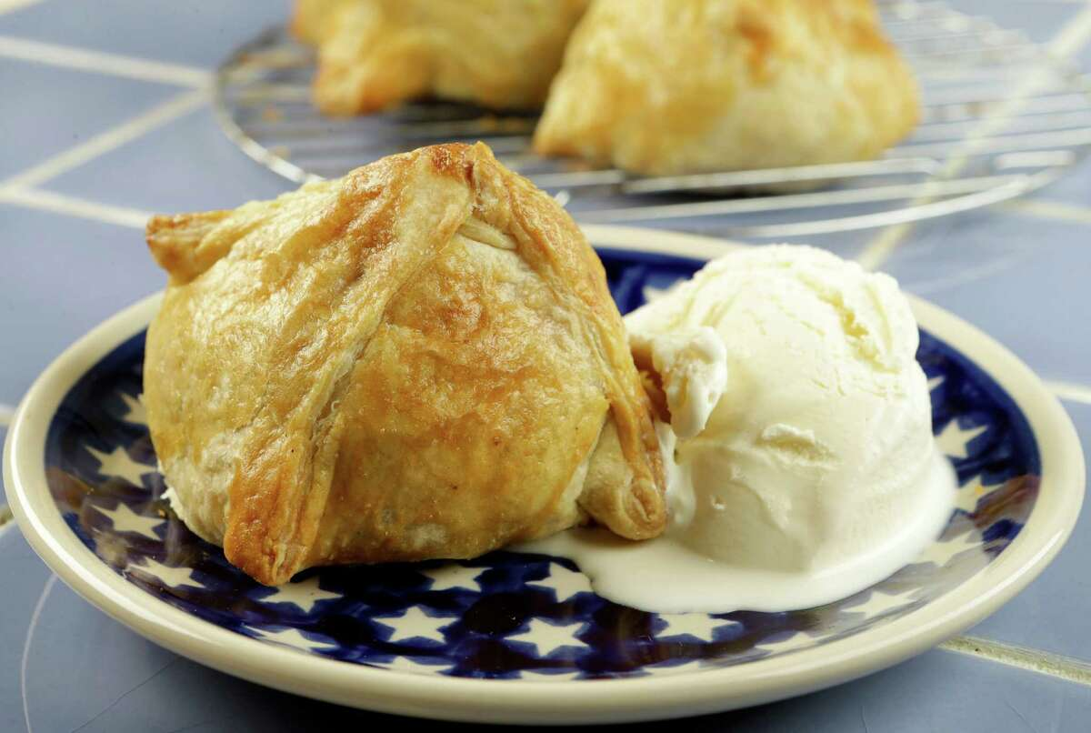 Peach Praline Dumplings are ripe for the tasting.