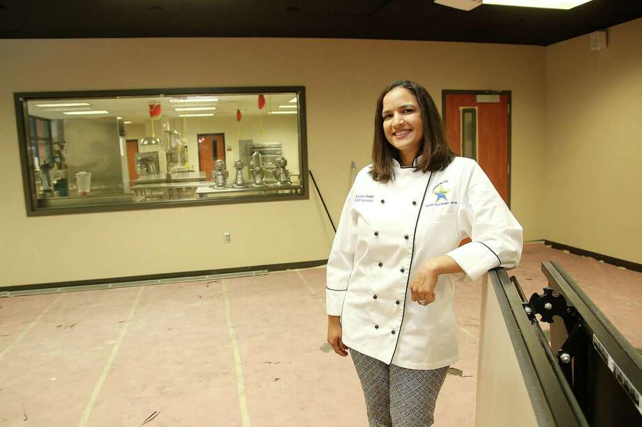 Chef Kathleen Roussel is eager for Bistro Urbano to open at Clear Creek High School so her students can put their culinary skills into practice. Planning the restaurant was a lesson for the teens, too, since they submitted the design for the facility to the district.Chef Kathleen Roussel is eager for Bistro Urbano to open at Clear Creek High School so her students can put their culinary skills into practice. Planning the restaurant was a lesson for the teens, too, since they submitted the design for the facility to the district. Photo: Pin Lim, Freelance / Copyright Forest Photography, 2015.