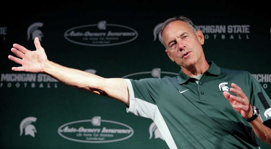 Michigan State head football coach Mark Dantonio talks about his team and the upcoming season during the team's NCAA college football media day, Monday, Aug. 10, 2015, in East Lansing, Mich. Photo: Al Goldis /Associated Press / FR11125 AP