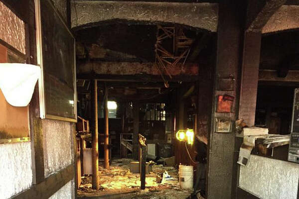A fire erupted at Dante's bar Tuesday morning near the border between the University District and the Roosevelt neighborhood of Seattle. The blaze was caused by overheated electrical wiring in the basement, according to the Seattle Fire Department.