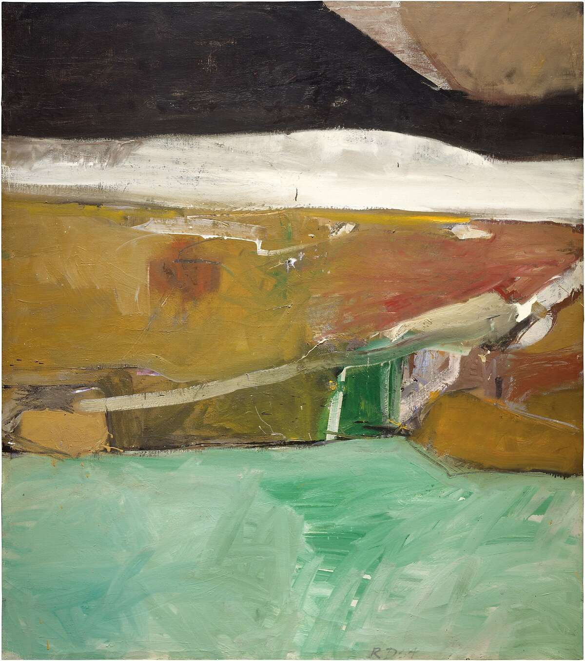 Richard Diebenkorn, Berkeley No. 26, 1954, oil on canvas. Gift of Harry W. and Mary Margaret Anderson and Mary Patricia Anderson Pence. © The Richard Diebenkorn Foundation.