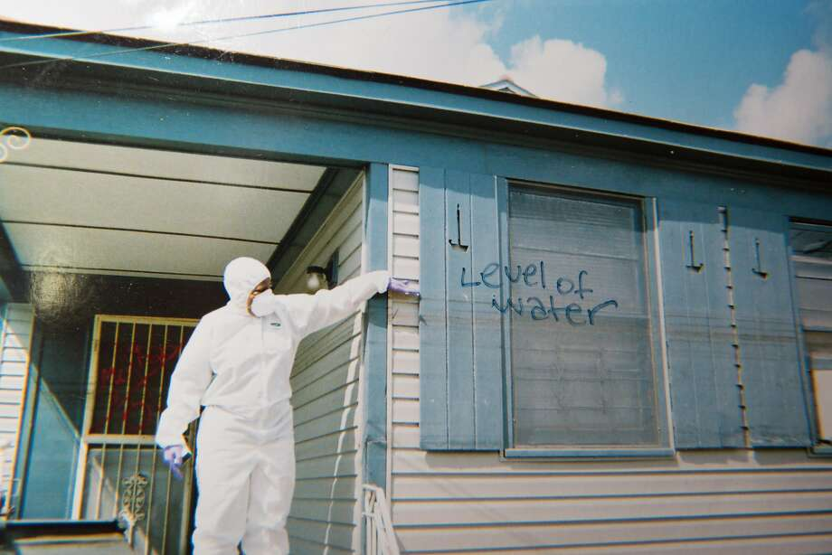 The home of the Davis family in the aftermath of Hurricane Katrina. Courtesy Wanda Davis. Photo: Edmund D. Fountain, Special To The Chronicle