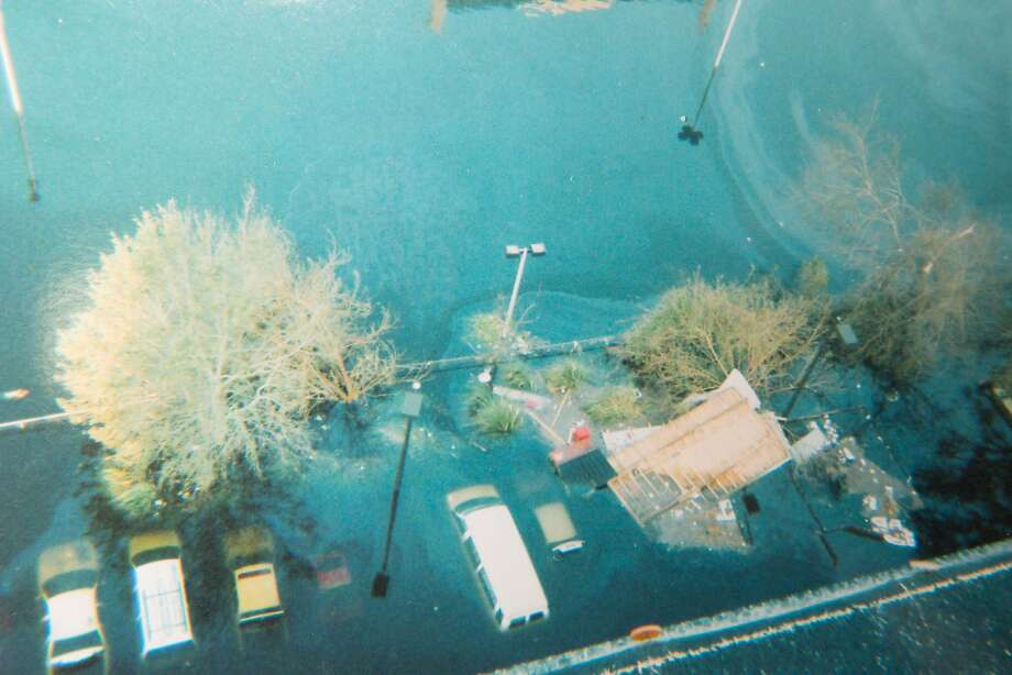 The parking lot of the high rise where the Davis family rode out Hurricane Katrina. Courtesy Wanda Davis. Photo: Edmund D. Fountain, Special To The Chronicle