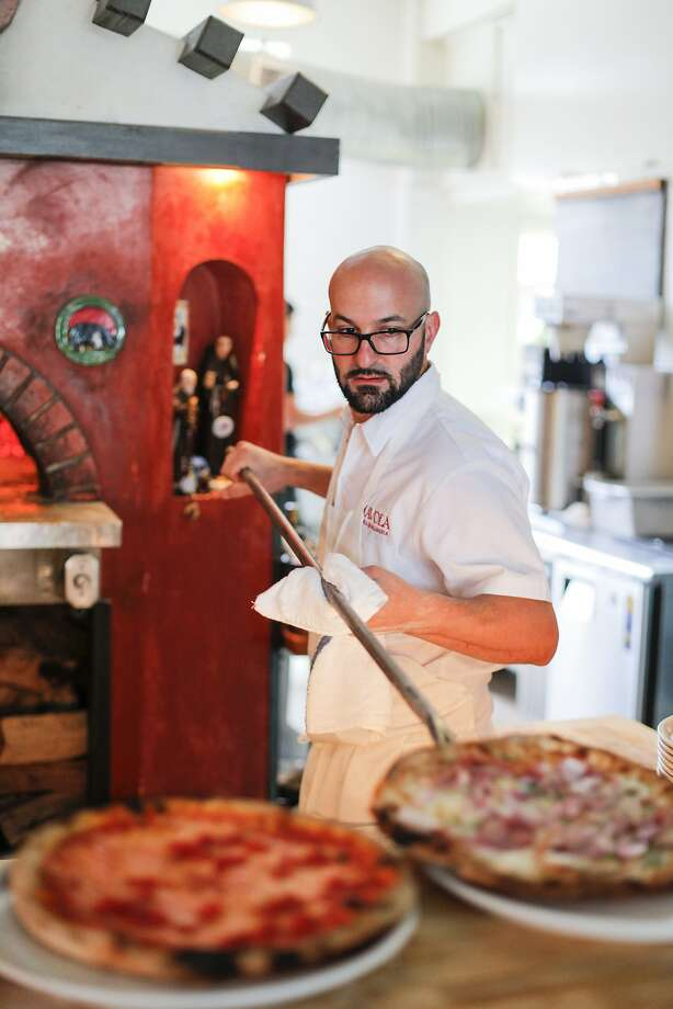 Diavola Pizzeria and Salumeria chef-owner Dino Bugica serves up thin-crust pizza and other rustic Italian dishes in Geyserville. Photo: Craig Lee