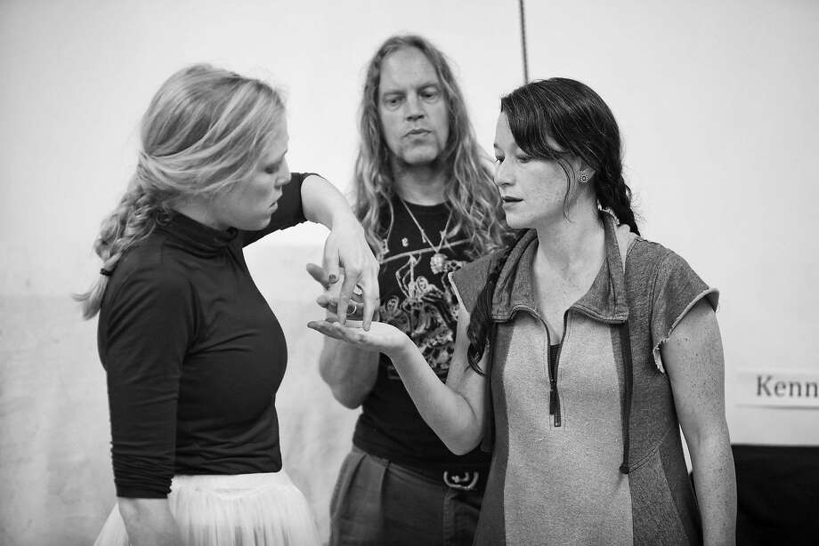 Megan Trout (left) Nils Fryckdahl and director Erika Chong Shuch. Photo: Pak Han