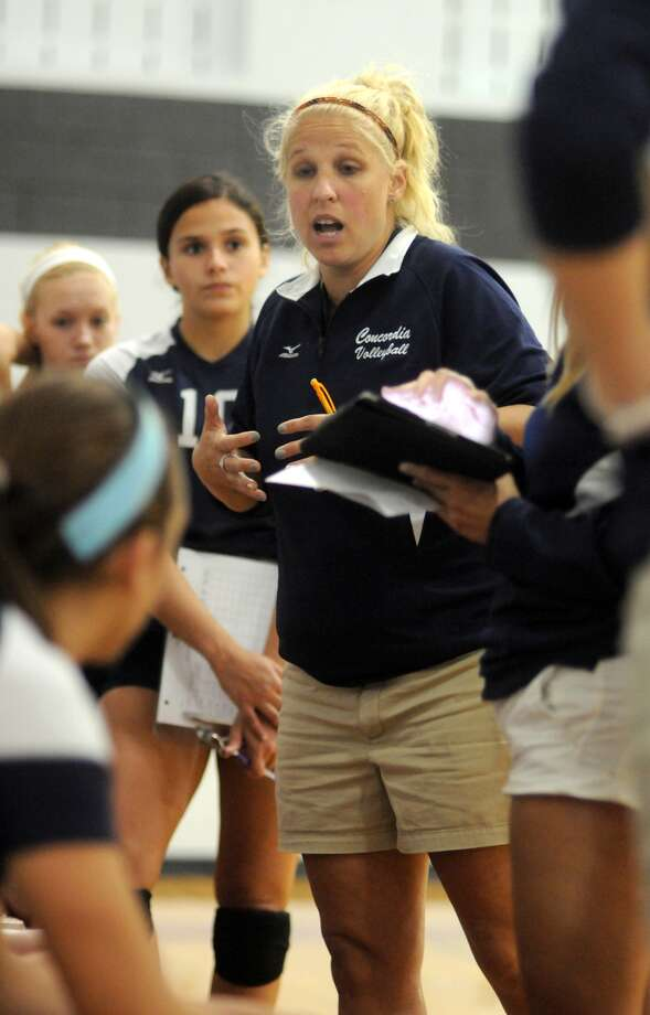 Concordia Lutheran volleyball coach Kim Odinga was proud of her team's run in the prestigious Adidas Texas Volleyball Invitational last weekend. Photo: Jerry Baker, Freelance