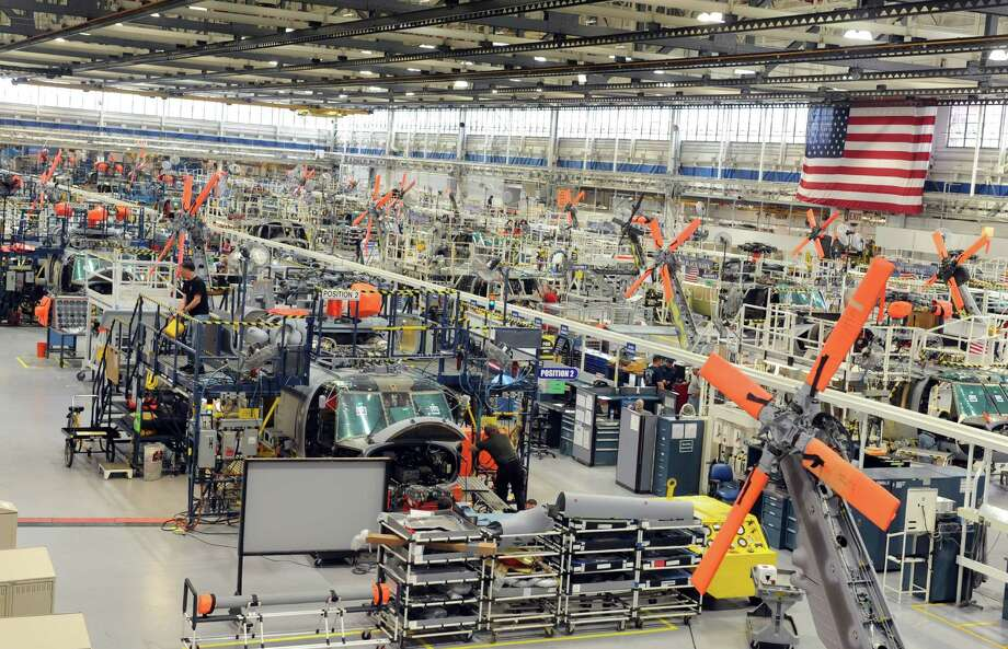 A trade publication reported on August 18, 2015 that Connecticut could be on the cusp of reversing losses in manufacturing, with the state's largest plant in Stratford at Sikorsky Aircraft, pictured. Photo: Autumn Driscoll / ST / Connecticut Post