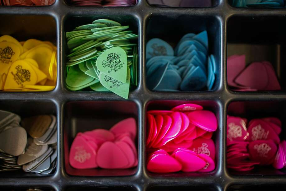 Guitar picks at Gelb Music. Photo: Nathaniel Y. Downes, The Chronicle