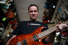 Mike Craig, Gelb Music's e-commerce manager, poses.  Like most single mom and pop store, Gelb Music in Redwood City at first struggled to Internet as consumers flocked to online sites instead of physical locations. But the 75-year-old retailer's decision to open an eBay storefront not only boosted in store traffic but also generated international sales. Photographed on Tuesday, August 18, 2015, Redwood City, Calif.