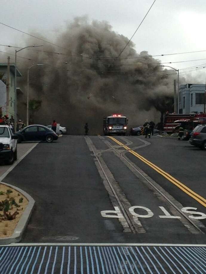 A two-alarm fire broke out at 3633 Taraval St. in San Francisco on August 18, 2015. Photo: Katherine Alba-Swanson, SFFD Courtesy