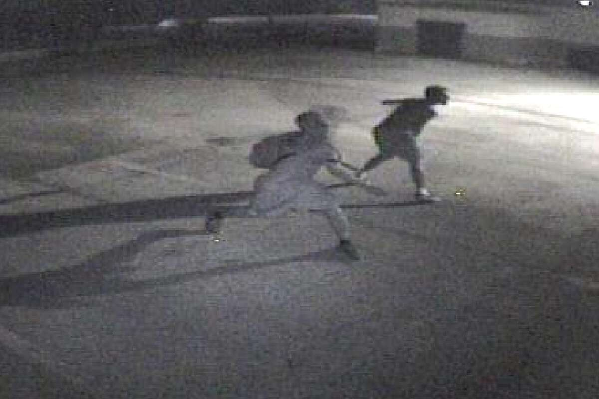 San Antonio police need help identifying these two men, who are believed to be connected to the Jewish Community tagging.