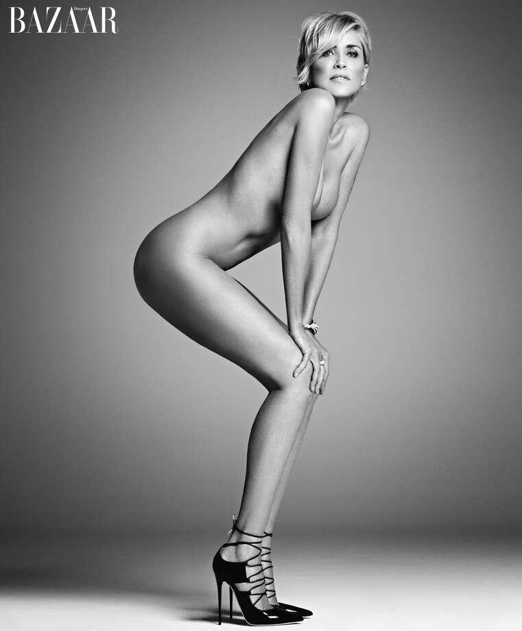 Sharon stone poses for photographer Mark Abrahams for Harper's Bazaar. Photo: Mark Abrahams