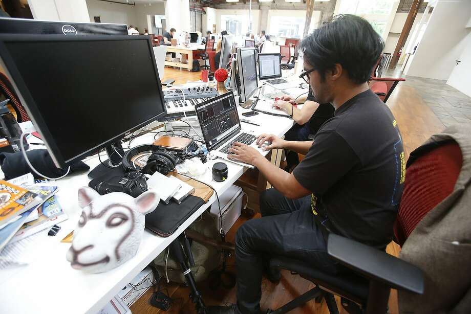 Jared Sosa works on a video he wrote, produced and shot for BuzzFeed at the company's office in Hollywood. (Kirk McKoy/Los Angeles Times/TNS) Photo: Kirk McKoy, McClatchy-Tribune News Service