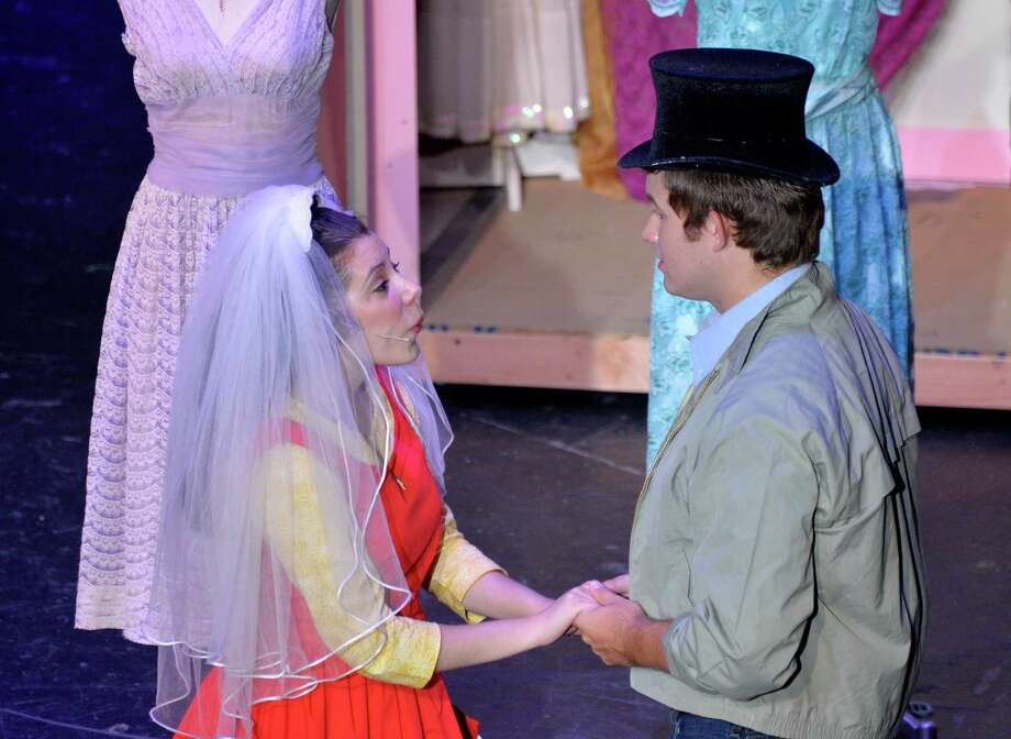 """Mariela Flor Olivo and Kyle Krambeck played starcrossed lovers in the Woodlawn Theatre's staging of """"West Side Story."""" Photo: Courtesy Woodlawn Theatre / Creative Commons  NoNCommercial-    NoDerivative"""
