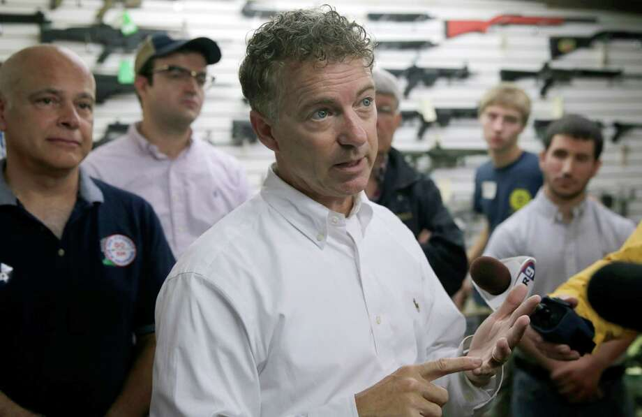 Sen. Rand Paul, R-Ky., campaigns in Hooksett, N.H. Some readers of a recent Scott Burns column dismissed Paul's flat tax plan as regressive. Photo: Charles Krupa, STF / AP