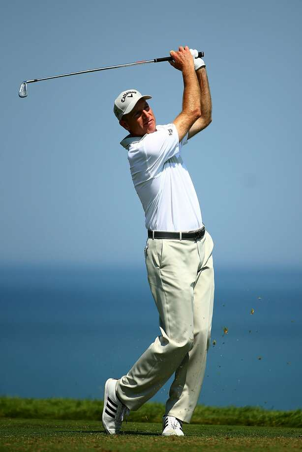 At 45, Jim Furyk is the third-highest-ranked American golfer, behind only Jordan Spieth and Bubba Watson. Photo: Richard Heathcote, Getty Images