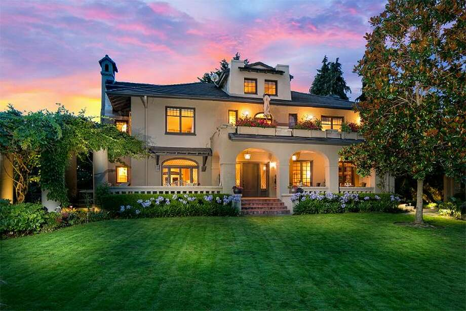 This home, 4315 N.E. 33rd St., is listed for $3.7 million The five bedroom, 4.75 bathroom home features expansive gardens, an outdoor dining area, an art studio and a private mother-in-law apartment. It also has view of Lake Washington. 