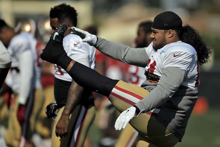 Nose tackle Mike Purcell's preseason performance could lead to more stops in Costco if it continues into the regular season for the 49ers. Photo: Carlos Avila Gonzalez, The Chronicle