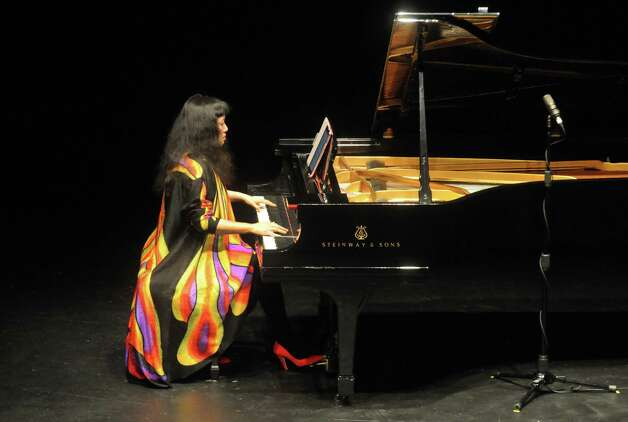 Pianist Wu Han performs during the Chamber Music Society of Lincoln Center event at the SPAC Little Theater on Tuesday Aug. 18, 2015 in Saratoga Springs, N.Y.  (Michael P. Farrell/Times Union) Photo: Michael P. Farrell / 00033053A