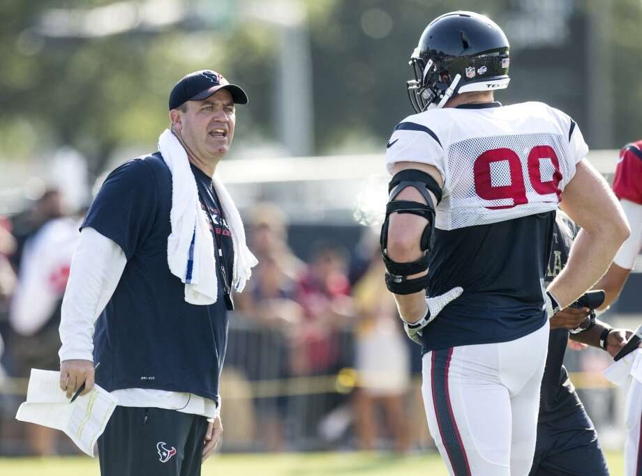 Texans coach Bill O'Brien said if J.J. Watt returns to full strength, the defense could flourish again. Photo: Brett Coomer, Houston Chronicle
