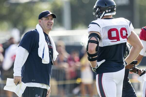 O'Brien vs. Watt     There was an entertaining back and forth between coach Bill O'Brien and J.J. Watt about how much yardage the defense has allowed during training camp. A seemingly exasperated O'Brien told Watt that the defense was being given too much praise, using a familiar euphemism that contains smoke and a body part.
