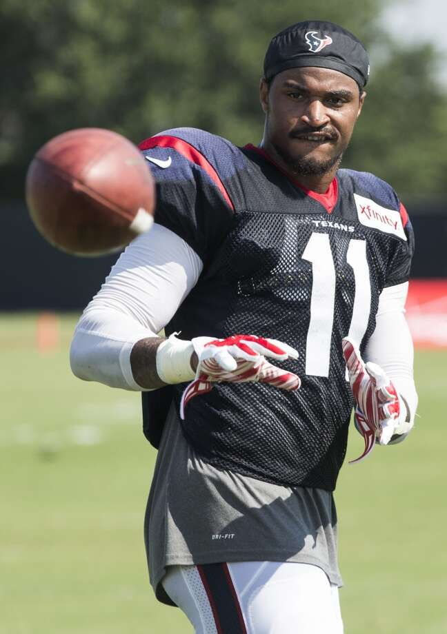 Jaelen Strong | Wide receiverThe second-year receiver came on strong at the end of his rookie year and was the most improved offensive player in the offseason program. Photo: Brett Coomer, Houston Chronicle