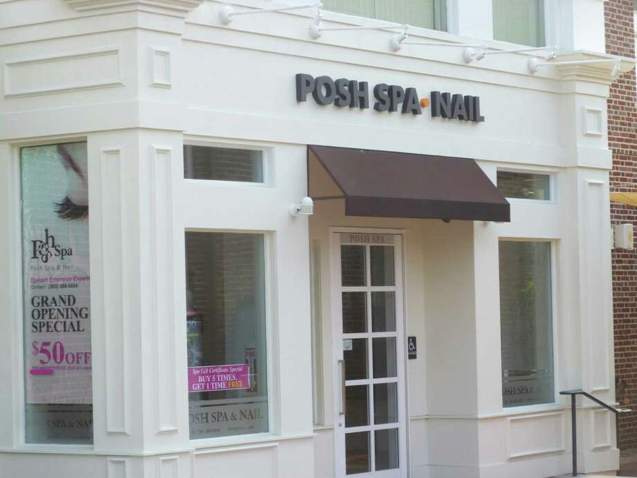 Posh Spa and Nail on Post Road in Darien was among 23 salons hit with fines and temporarily shut down because of pay and record violations. Photo: Martin B. Cassidy / Hearst Connecticut Media / Darien News