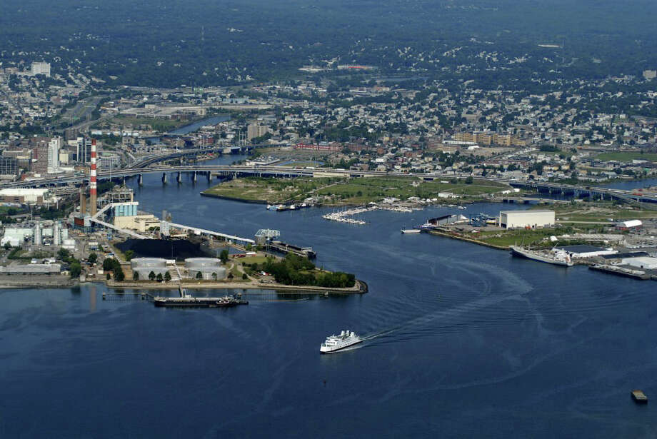 Aerial photo by Morgan Kaolian/AEROPIX The Bridgeport Harbor hasnít been dredged since 1964, and city and state officials familiar with the situation say that Bridgeport will lose much of its ability to market itself as a deep water port if something isnít done soon. Photo: Morgan Kaolian/AEROPIX / ST / Morgan Kaolian AEROPIX