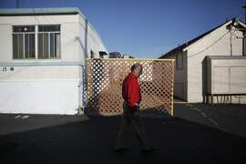 Gene Pedrotti, hardware store owner, visits the trailer park where he had planned to build a new hardware store in Benicia, California, on Tuesday, Aug. 18, 2015.