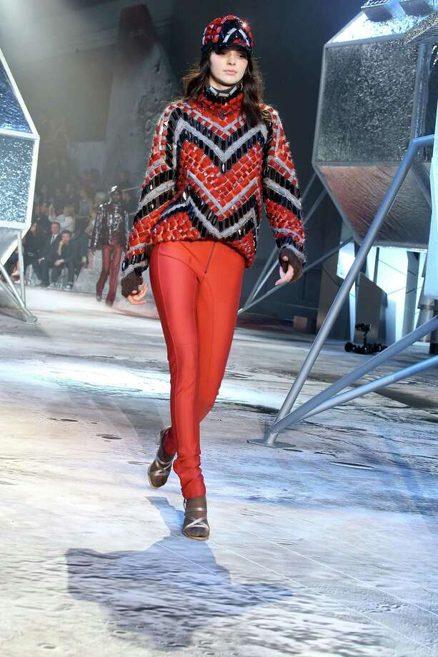A model walks the runway during the H&M  show as part of the Paris Fashion Week Womenswear Fall/Winter 2015/2016 at Grand Palais in Paris, France. Photo: Michel Dufour, Getty Images / 2015 Michel Dufour