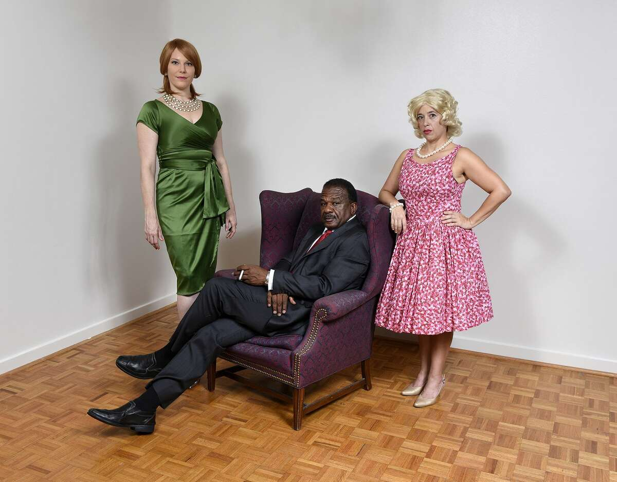 Marty Thompson, left, as Joan Holloway; Paul Shanklin as Don Draper and Angela Wood as Betty Draper are performing in the annual