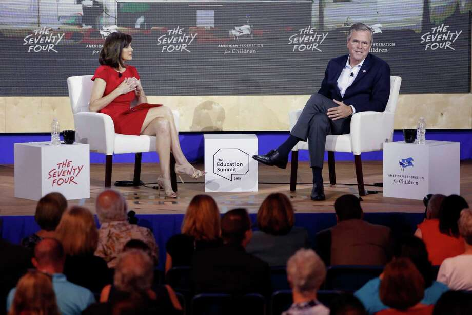 Republican presidential candidate former, Florida Gov. Jeb Bush, speaks during an education summit, Wednesday, Aug. 19, 2015, in Londonderry,NH Photo: Jim Cole, AP / AP