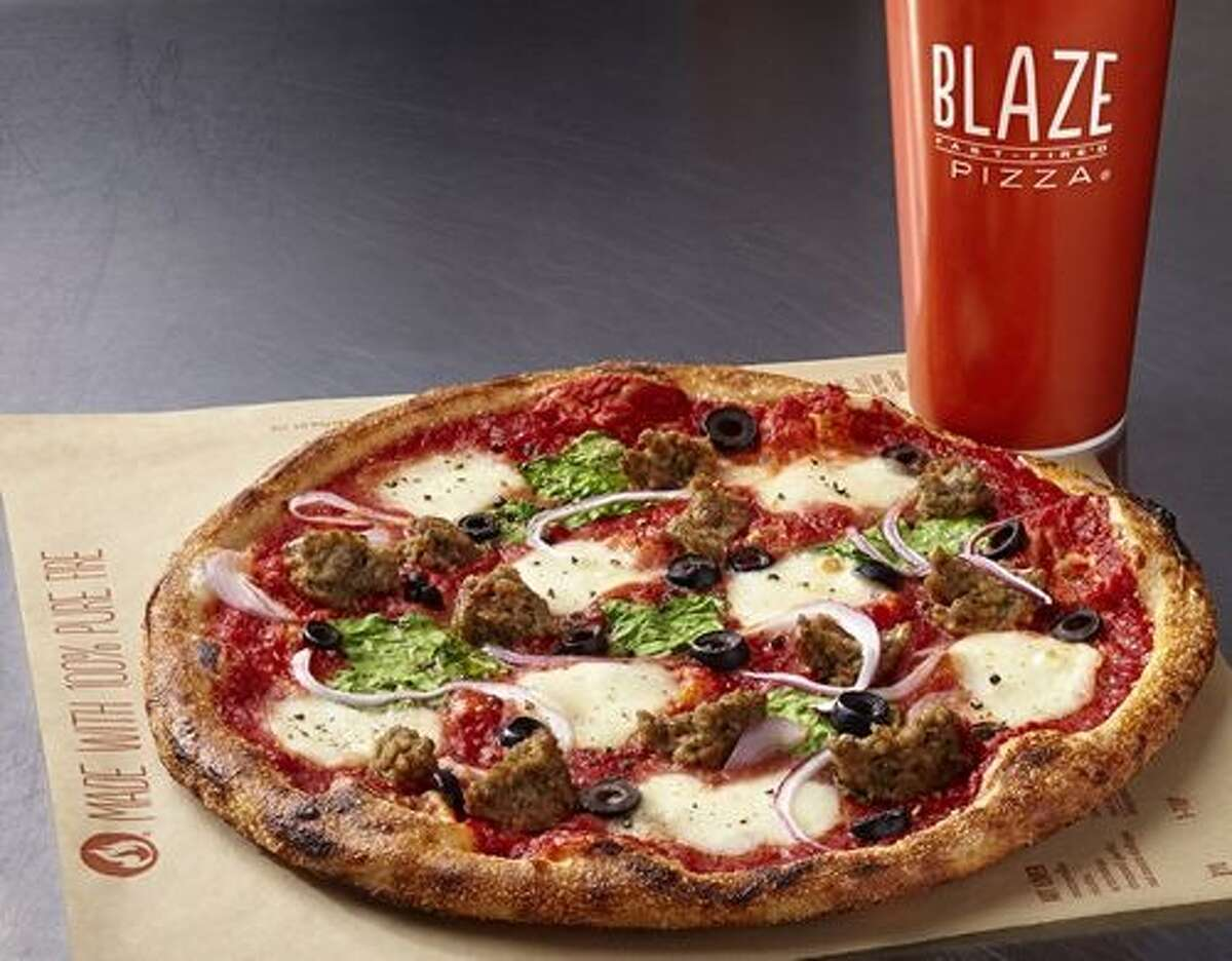 BLAZE FAST FIRE'D PIZZA Time 'em. The California-based pizza chain boasts of cooking your pie in 180 seconds. It has two stores in the Houston area and plans to open locations in Spring, Webster and Bush Intercontinental in 2016. Find the nearest at blazepizza.com.