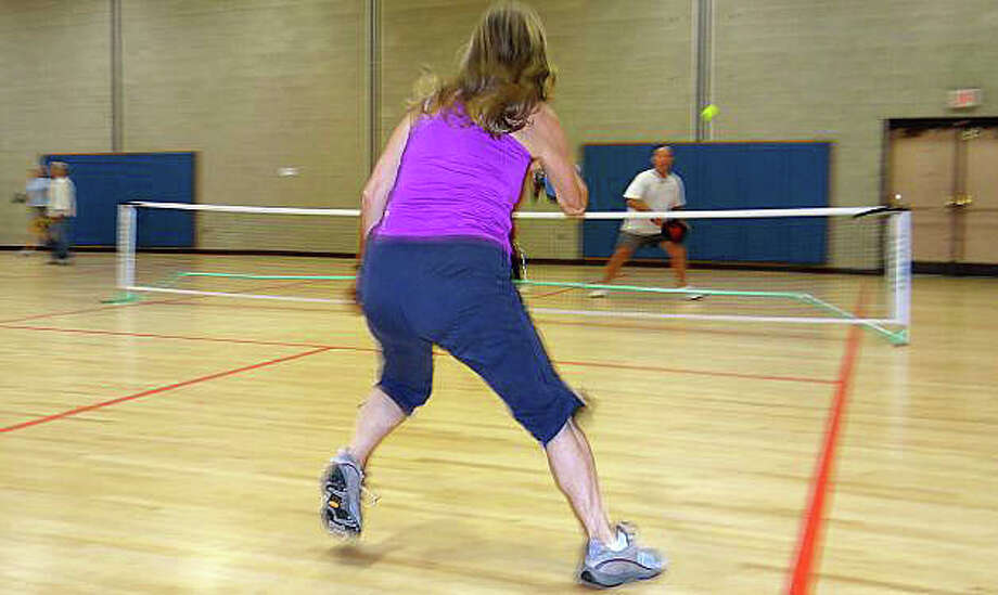 Pickleball players will be required to be members of the town's Bigelow Center for Senior Activities, as well as pay an annual fee, because of the sport's growing popularity there. Photo: File Photo / File Photo / Fairfield Citizen