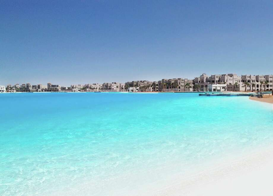 A Crystal Lagoons project at the Citystars Sharm El Sheikh, a tourist complex in Egypt. Photo: Crystal Lagoons U.S. Corp.