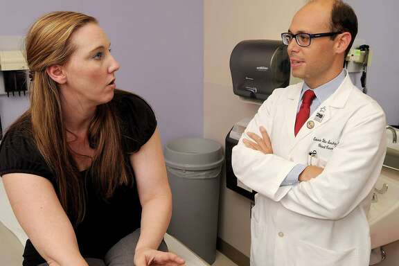 Teresa Hall of Spring initially got a diagnosis of irritable bowel syndrome. Ten years later, she learned she had in fact developed colorectal cancer. Dr. Eduardo Vilar-Sanchez says such misdiagnoses among young patients are not uncommon.