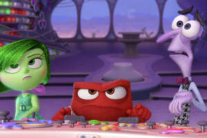 "Disgust, from left, Anger and Fear (voiced by Mindy Kalin, Lewis Black and Bill Hader) are among the emotions in ""Inside Out."""