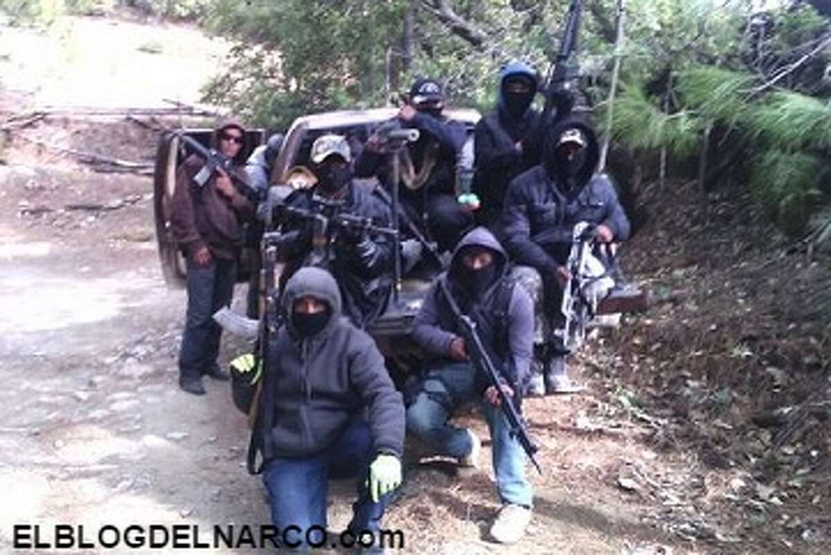 These behind-the-scene photos, provided by Blog del Narco, show the lifestyle of Grupo Bravo del NCDJ. The group acts as the armed wing of the New Juarez Cartel, which is based in northeastern Mexico.