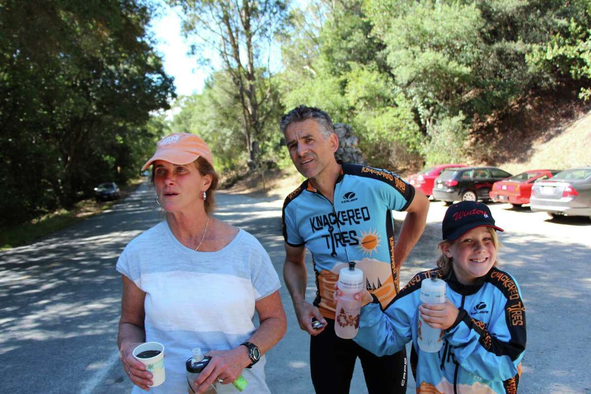 Friends and family supported Oakland amateur cyclist Craig Cannon as he broke the world record for the most vertical feet biked in 48 hours August 7 to 9, 2015.