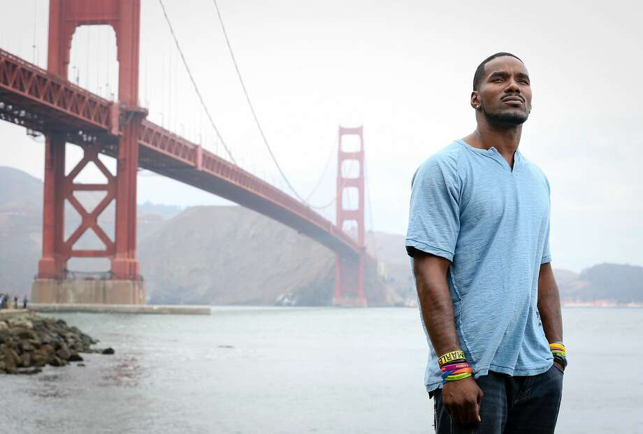 Kevin Berthia, who nearly jumped to his death from the Golden Gate Bridge, is now a suicide prevention campaigner. Photo: Amy Osborne, Special To The Chronicle