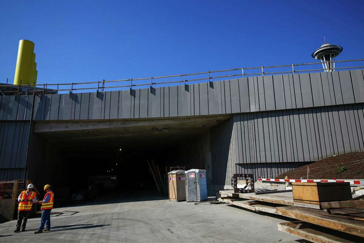 The northbound tunnel entrance is shown during a tour of the north end of the Highway 99 tunnel in downtown Seattle. Photographed on Wednesday, August 19, 2015.