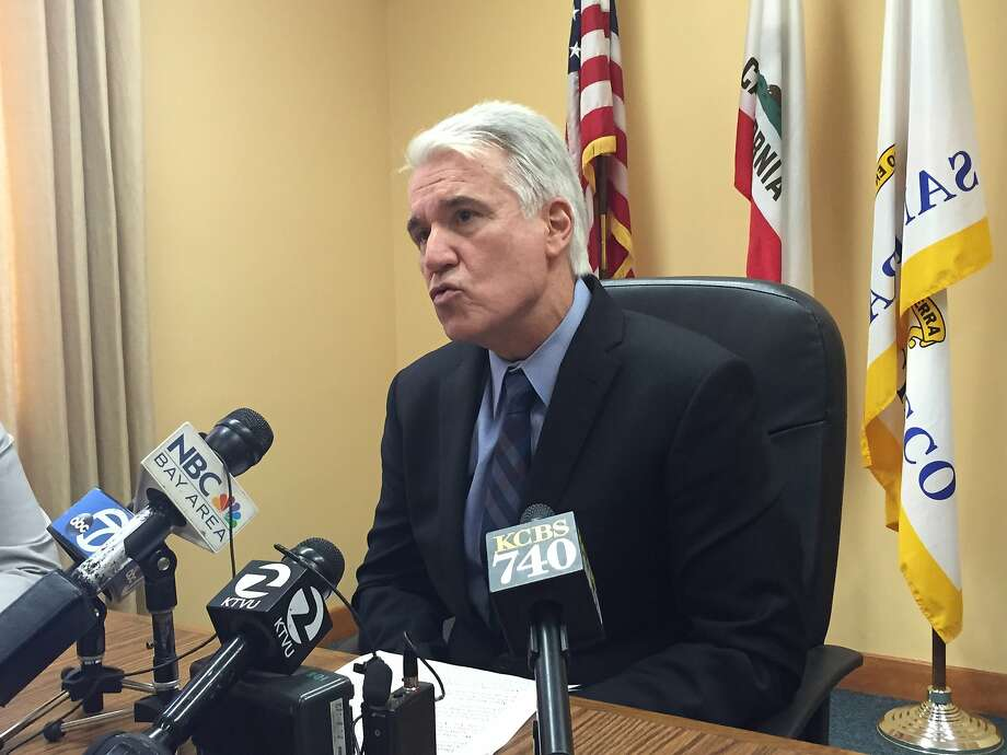 SF DA George Gascon called a press conference Wednesday to say that Uber's background check process is so flawed that it has least 22 convicted criminals driving in Los Angeles and San Francisco. Photo: Carolyn Said, The Chronicle